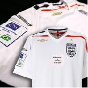 England V Brazil Commemorative Home Shirt 2007/09
