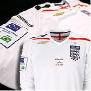 England V Brazil Commemorative Home Shirt 2007/09 - Long Sleeve