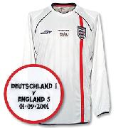 01-03 England Home L/S Shirt + England V Deutschland Embroidery New Location
