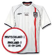01-03 England Home Shirt (England V Deutschland Embroidery New Location)