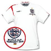 05-07 England Home Womens Shirt + Germany Wc2006 Embroidery