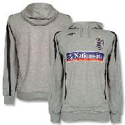 07-08 England Bench Hoody - Light Grey/Dark Grey