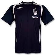 07-08 England Bench Poly Polo - Dark Navy/Light Grey