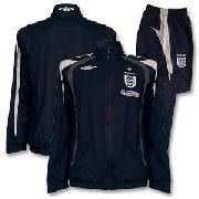 07-08 England Bench Woven Suit - Dark Navy/Light Grey/Dark Grey
