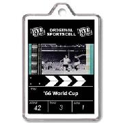 1966 World Cup Team Fimcell Keyring (Black/White)