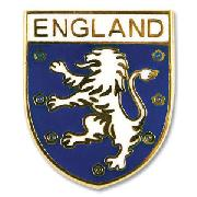 England Enamel Pin Badge - Lion