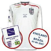 Wembley Opening International Match England Home L/S Shirt