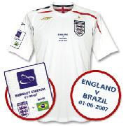 Wembley Opening International Match England Home Shirt